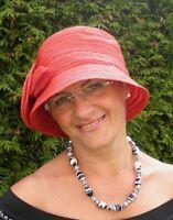 Damen Hut 30er Jahre Rot Glockenhut Anlasshüte Hochzeit Damenhüte Mütze Elegant