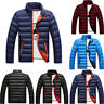 Men's Padded Winter Lightweight Down Quilted Puffer Outwear Jacket Coat Overcoat