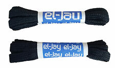 "EL-JAY 2 x 100cm 39"" Nylon Woven Black Football Rugby Laces MRRP £1-99"
