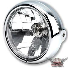 Motorrad Chrom Scheinwerfer Hauptscheinwerfer 5 3/4 Zoll Bullet H4 universal