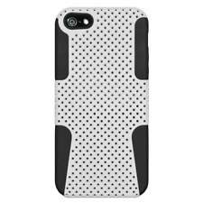 NEW HYBRID RUGGED RUBBER MATTE HARD CASE COVER FOR iPHONE 5 5S 5G - BLACK/ WHITE