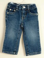 LEVI STRAUSS Signature Girl Size 12 Months Blue Denim Zippered Jeans
