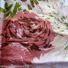 85cm x 119cm VINTAGE Waverly Bonded Fabric 1950s Aqua Blue Pink Decor Weight
