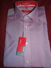 """ETERNA Excellent (REDLINE) elegant lila Schweizer Baumwolle S/S Shirt UK 15"""""""