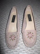 Womens Beige Beaded Dress Moccisins by Coldwater Creek  Size 8.5M Free Ship