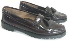 WESTCOTT SHOEMAKER Womens 9M Tassel Loafers Wine Leather