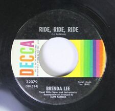 Rock 45 Brenda Lee - Ride, Ride, Ride / Lonely People Do Foolish Things On Decca