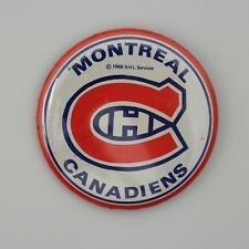 "Vintage Rare 1969 NHL Montreal Canadiens Pin Button 2 1/4"" by 2 1/4"" Round"