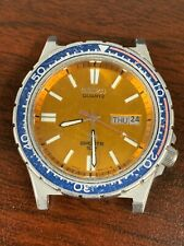 Mens Seiko Quartz Sports 100 Divers Stainless Steel Watch 7123-B23H