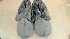 Charter Club Plush Faux Fur Velvet Soft Slipper Boots Women Size S 5-6 Grey NEW