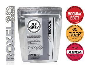Roxel3D DLP GREY 3D Printing resin for MoonRay™, Asiga™,  MiiCraft™ Tiger 250g