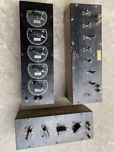 Vintage General Radio 602-N 602-j Decade Resistance Box & 249-T Attenuation Box