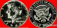 1968 S 40% Silver Kennedy Half Dollar Gem Proof No Reserve