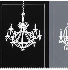 Black, Dark Grey & Light Grey Chandelier Wallpaper Border CD046144B