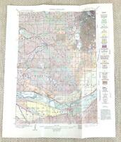 1915 Antique Map of Minneapolis St Louis Park Richfield Glendale USA Geological