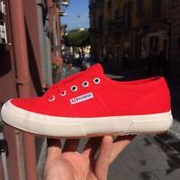 Scarpe Superga 2750 colore rosse Red   classic tela unisex