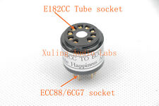 1pc gold plated E182CC 7119 TO ECC88 6922 6DJ8 6CG7 6FQ7 tube converter adapter
