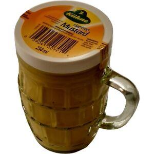 Kuhne Traditional Smooth & Mild German Mustard in Beer Mug Glass Jar 250ml