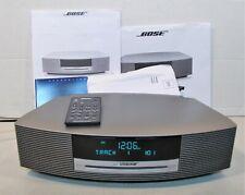 BOSE WAVE MUSIC SYSTEM - RADIO/CD  w/ REMOTE & MANUAL, SILVER - BEAUTIFUL!