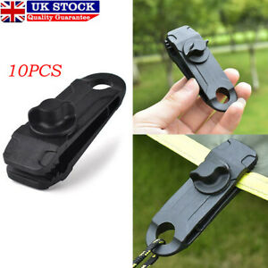 10 x Tent Tarp Tarpaulin Clips Clamps Buckle Camping Tool Heavy Duty Reusable UK