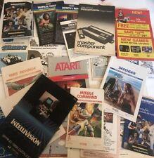Video Game Manuals Lot Atari Colleco Vison Intellivision Imagic Program Catalog
