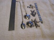 Vintage Siam Sterling Silver Lot Bracelet, Necklaces Pins Earrings