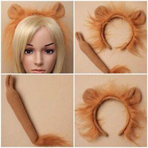 Lion Headband Tail Headband Fancy Dress Hair Accessory World Book Day Halloween