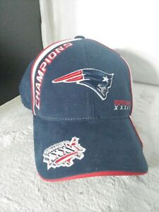 NEW ENGLAND PATRIOTS SUPER BOWL XXXVI 36 REEBOK OFFICIAL LOCKER ROOM HAT