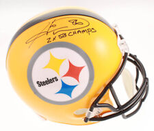 Hines Ward Signed Pittsburgh Steelers Full Size Throwback Helmet SB Inscript TSE
