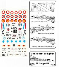 1:72 C3D Decals - Dassault Breguet Mirage III E/C France, Spain, Israel