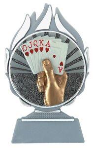 Relief-Pokalständer Kartenspiel (BL-001) Höhe=13cm inkl.Gravur nur 4,99 EUR