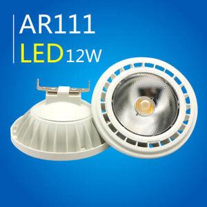 AR111 LED Spot Light G53 Lamp Bulbs 12W (Eq 145W Halogen) 220V 110V Warm white