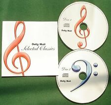 Daily Mail Selected Classics Satie Bach Chopin Beethoven Handel Gluck + CD x 2