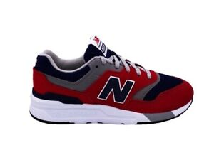 NEW BALANCE 997 Baskets Rouge Bleu Blanc Gris GR997HBJ