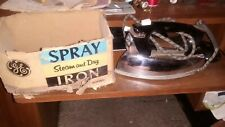 Vintage GE Spray Steam & Dry IRON  # F71  with Original Box & Papers not working