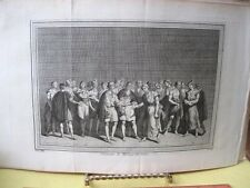 Vintage Print,CEREMONIE DU MARIAGE,18th Century,Views of Trade Ports,1748