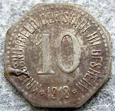 GERMAN NOTGELD CITY OF HILDESHEIM 1918 10 PFENNIG, IRON