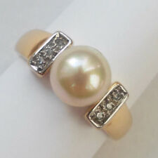Majorica Perlen Ring 925 Sterlingsilber vergoldet Zirkonia Gr. 56 NP 99,00 €