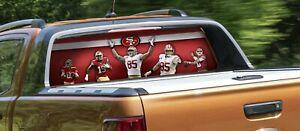 San Francisco 49ers Rear Window Graphic Decal Truck car vinyl custom NFL