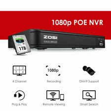ZOSI POE HDMI 1080p NVR motion detection Security surveillance System ONVIF 1TB