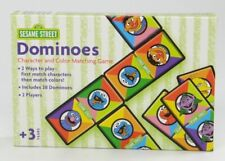SESAME STREET ~ DOMINOES ~ Character and Color Matching Game ~RoseArt 31525 2003