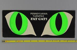 Pennsylvania Turnpike Fat Cats Decal Sticker Original 60's 70's Vtg Cat Eyes