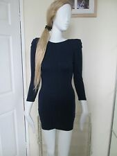 ATMOSPHERE - BLUE RUCHED SLEEVED UN LINED MINI DRESS SIZE 8 - VISCOSE BLEND