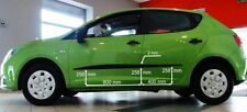 Body Side Mouldings Door Molding Protector Trim for Seat Ibiza V 5D ST 2012-2016