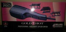 1600 Watt Hair Blow Dryer GOLD N HOT Professional Styler 1 Year Warranty USA NIB