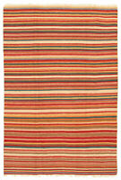 "Hand woven Carpet 6'7"" x 9'2"" Traditional Vintage Wool Kilim...DISCOUNTED!"