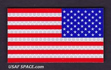 AUTHENTIC US MILITARY IR INFRARED REFLECTIVE Reverse Facing COLOR US FLAG PATCH