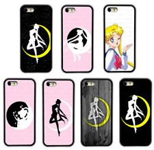 Cartoon Sailor Moon Pattern Rubber Phone Case Cover For iPhone / Samsung