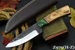 Custom Hammered 1095 High Carbon Steel Hunting Knife Handmade,No Damascus Z979-O