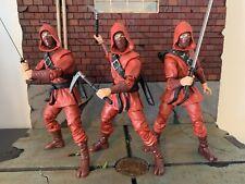 Marvel Legends Red HAND NINJA Lot of 3 - Stilt Man Wave - no BAF pieces Complete